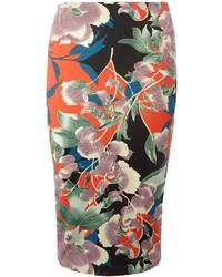 Dorothy Perkins Floral Scuba Pencil Skirt