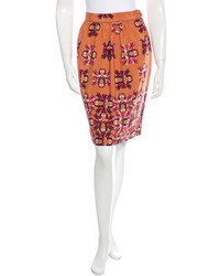 Printed pencil skirt w tags medium 825571