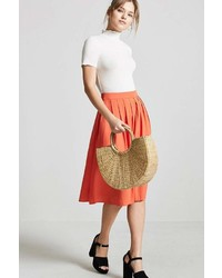 Forever 21 Pleated Midi Skirt