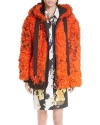MARQUES ALMEIDA Genuine Shearling Hooded Coat