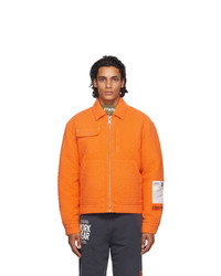 Orange Harrington Jacket