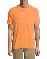 Orange Henley Shirt