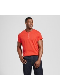 Goodfellow Co Big Tall Standard Fit Short Sleeve Henley T Shirt