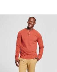 Goodfellow Co Standard Fit Long Sleeve Henley T Shirt