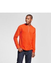 Goodfellow Co Standard Fit Long Sleeve Micro Waffle Henley Shirt
