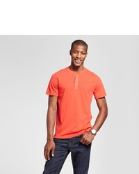 Goodfellow Co Standard Fit Short Sleeve Henley T Shirt