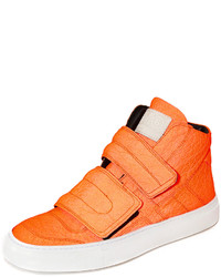 Orange High Top Sneakers