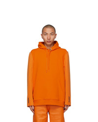 Burberry Orange Reconstructed Hoodie