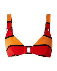 Solid & Striped The Tilda Striped Cotton Blend Terry Bikini Top
