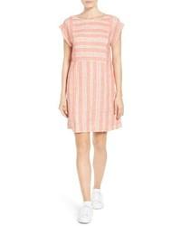 Petite Caslon Stripe Linen Shift Dress