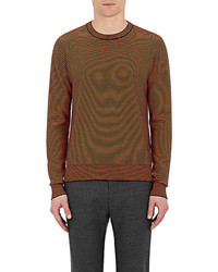 Maison Margiela Elbow Patch Wool Cotton Sweater