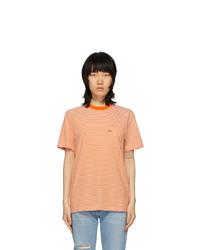 Noah NYC Orange Stripe Pocket T Shirt