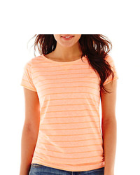 jcpenney Stylus Stylus Short Sleeve Striped Crewneck T Shirt