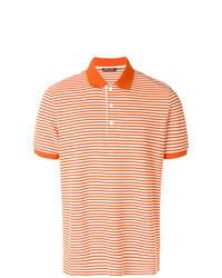 Orange Horizontal Striped Polo