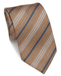 Brioni Diagonal Striped Silk Tie