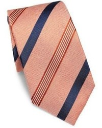 Isaia Textured Striped Silk Tie