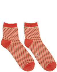 Kolor Orange Striped Socks
