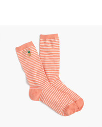 Striped trouser socks with critters medium 3744247
