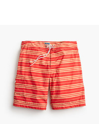 J.Crew 9 Board Short In Red Stripe