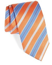 Orange Horizontal Striped Tie