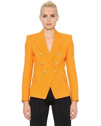 Balmain Double Breasted Cotton Natt Jacket