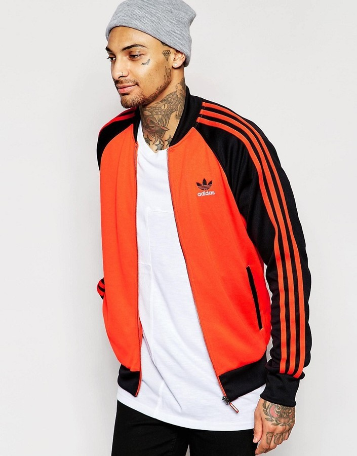 adidas originals orange jacket