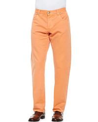 Isaia Denim Selvedge Jeans Orange