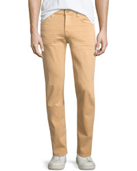 7 For All Mankind Slimmy Squiggle Pocket Denim Jeans Apricot Peach