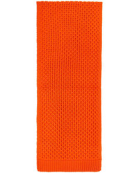 Calvin Klein 205w39nyc Orange Cable Knit Scarf