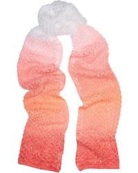 Missoni Crochet Knit Ombr Scarf