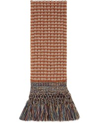 Gucci Wool Scarf With Multicolor Fringe