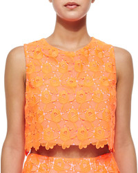 A.L.C. Adriana Floral Lace Crop Top