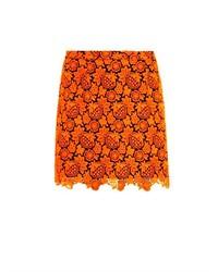 Floral lace mini skirt medium 211934