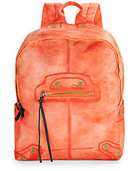 Faux leather trimmed backpack medium 212612