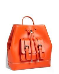 Vince Camuto Tilly Leather Backpack Sunset Orange