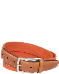 Dockers 1 316 In Canvas Belt With Leather Trim
