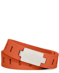 Maison Margiela Code Buckle Leather Belt