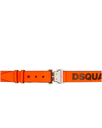 DSQUARED2 Orange Arctic Rave Techno Belt