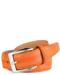 Pakerson Orange Hand Painted Italian Leather Belt