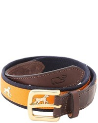 Vineyard Vines Pointer Canvas Club Belt
