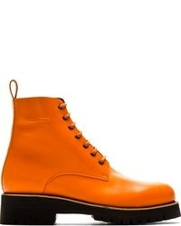 2634e8fef92 Men's Orange Boots by DSquared | Men's Fashion | Lookastic.com