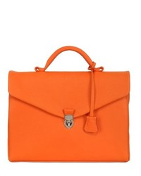 Orange Leather Briefcase