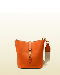 Gucci Jackie Soft Leather Bucket Bag