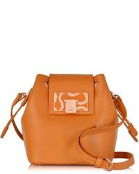 Vivienne Westwood Orange Opio Saffiano Mini Bucket Bag
