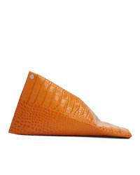 Simon Miller Orange Croc Slug Clutch