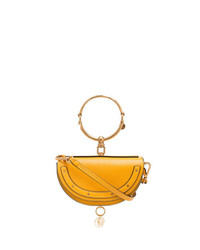 Chloé Yellow Nile Minaudire Leather Bracelet Bag