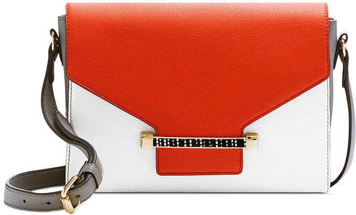 Orange Leather Crossbody Bags Vince Camuto Julia