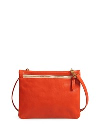Clare V. Jumelle Leather Crossbody Bag