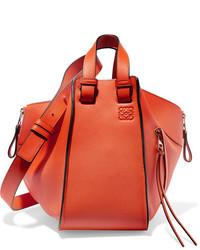 Loewe Hammock Small Textured Leather Shoulder Bag Orange
