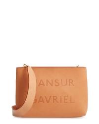 Mansur Gavriel Logo Leather Crossbody Bag
